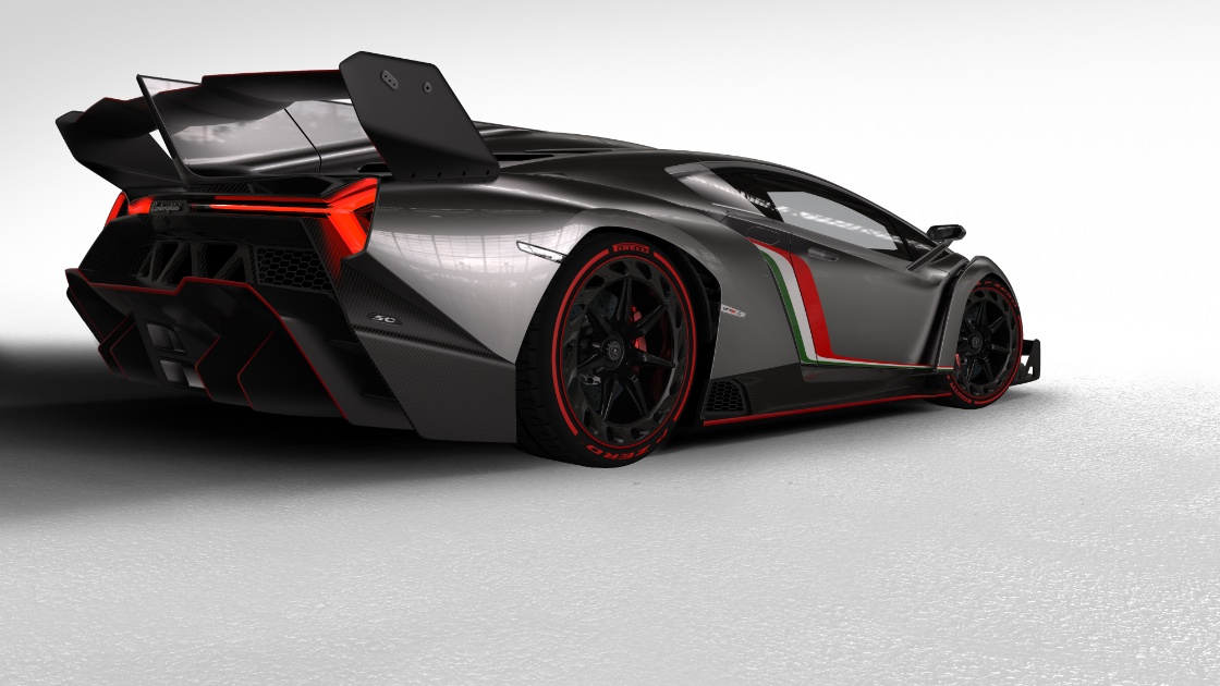 Photo:  Lamborghini veneno back