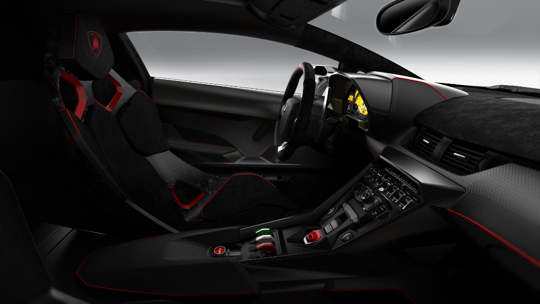 Photo:  Lamborghini veneno interior