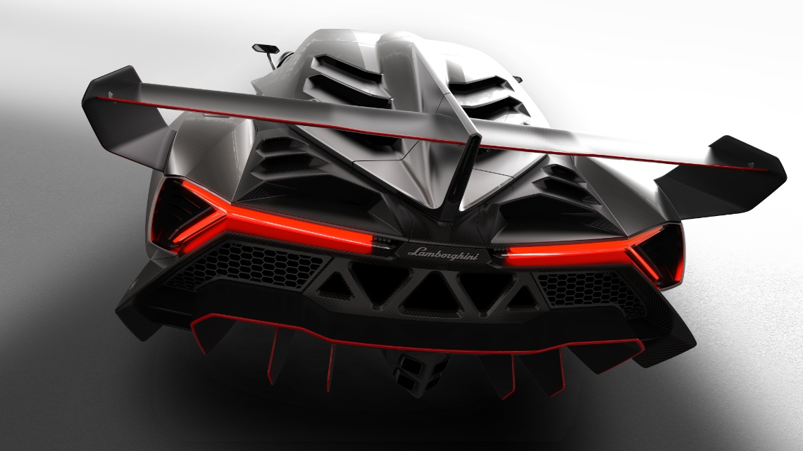 Photo:  Lamborghini veneno rear