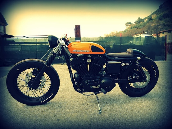 Photo:  Harley Davidson Sporty 883 Cafe Racer