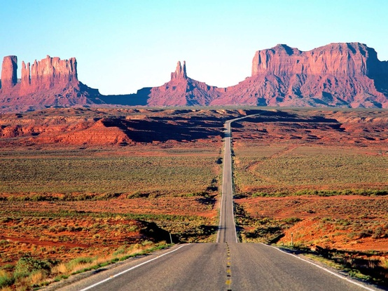 Photo:  Long Road In Monument Valley