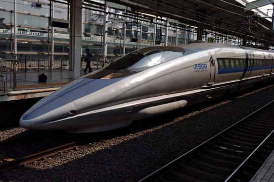 Photo:  Japanese Shinkansen bullet train