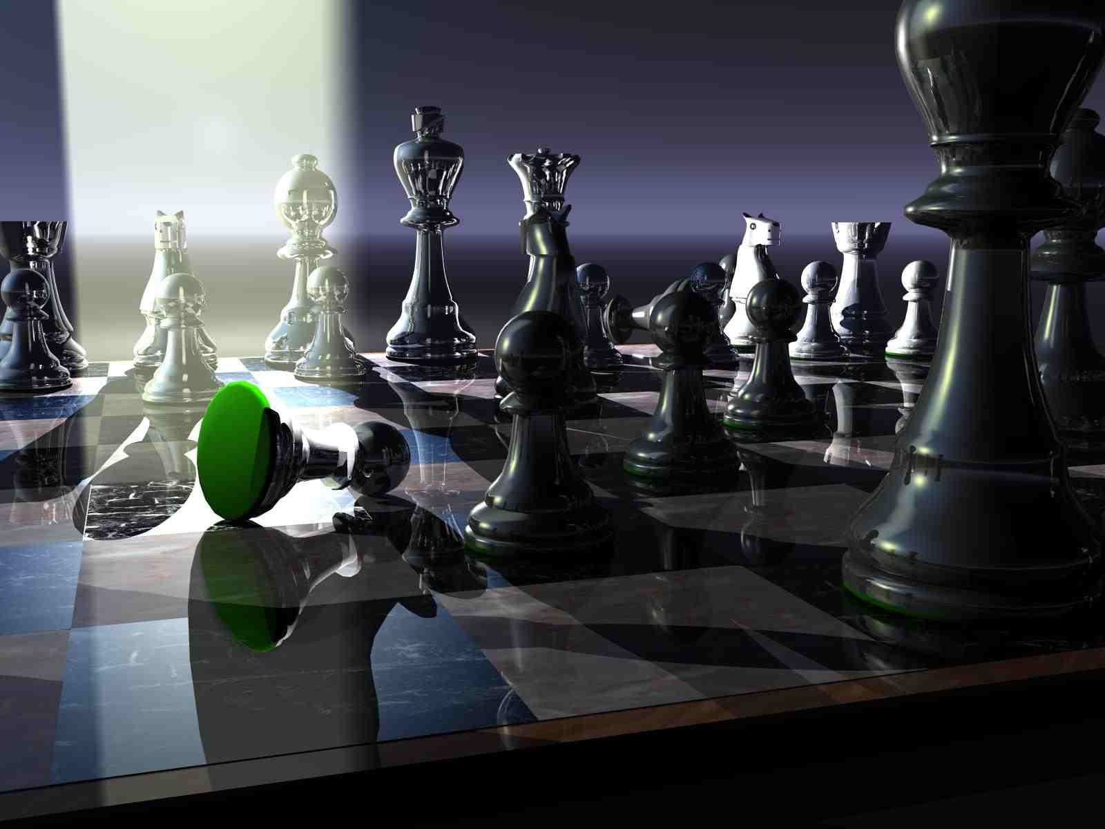 Photo:  1600x1200 Wallpaper 3D chess