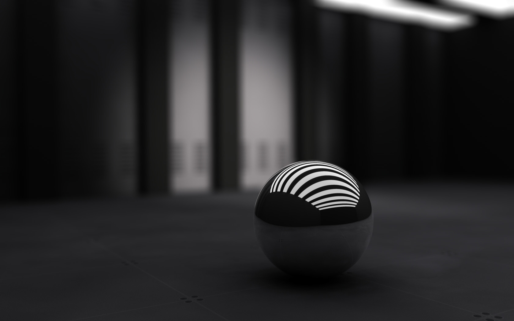 Photo:  1680x1050 Wallpaper 3D black ball