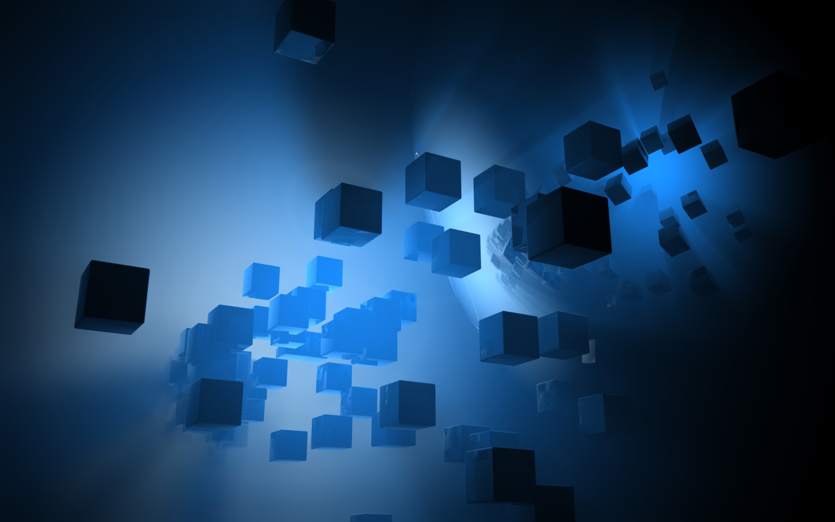Photo:  1680x1050 Wallpaper 3D cubes abstract