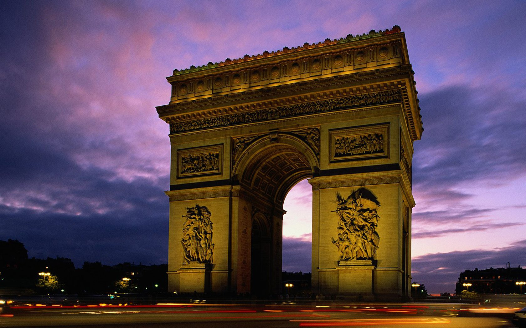 Photo:  1680x1050 Wallpaper arc de triomphe