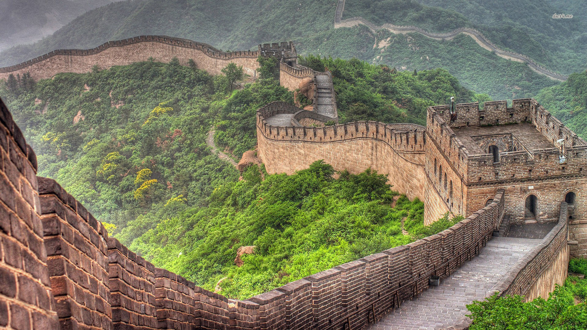 Photo:  1920x1080 Wallpaper 004-the-great-wall-of-china