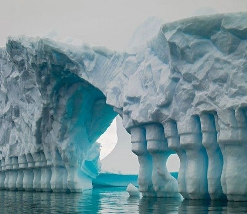 Photo:  Columned Glacial Iceberg Bridge
