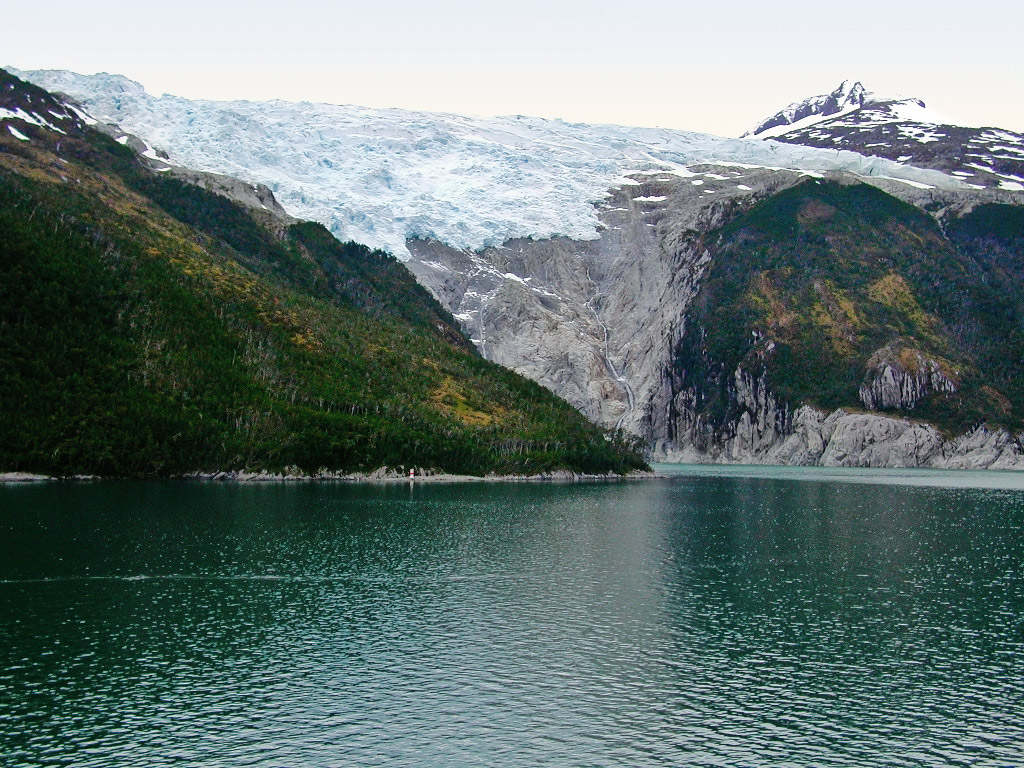 Photo:  A glacier at Beagle Channel in southern Chile