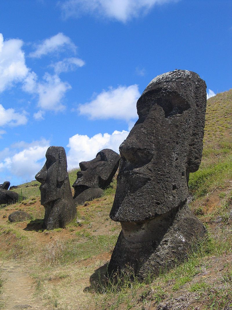 Photo:  Moai on Easter Island, Chile