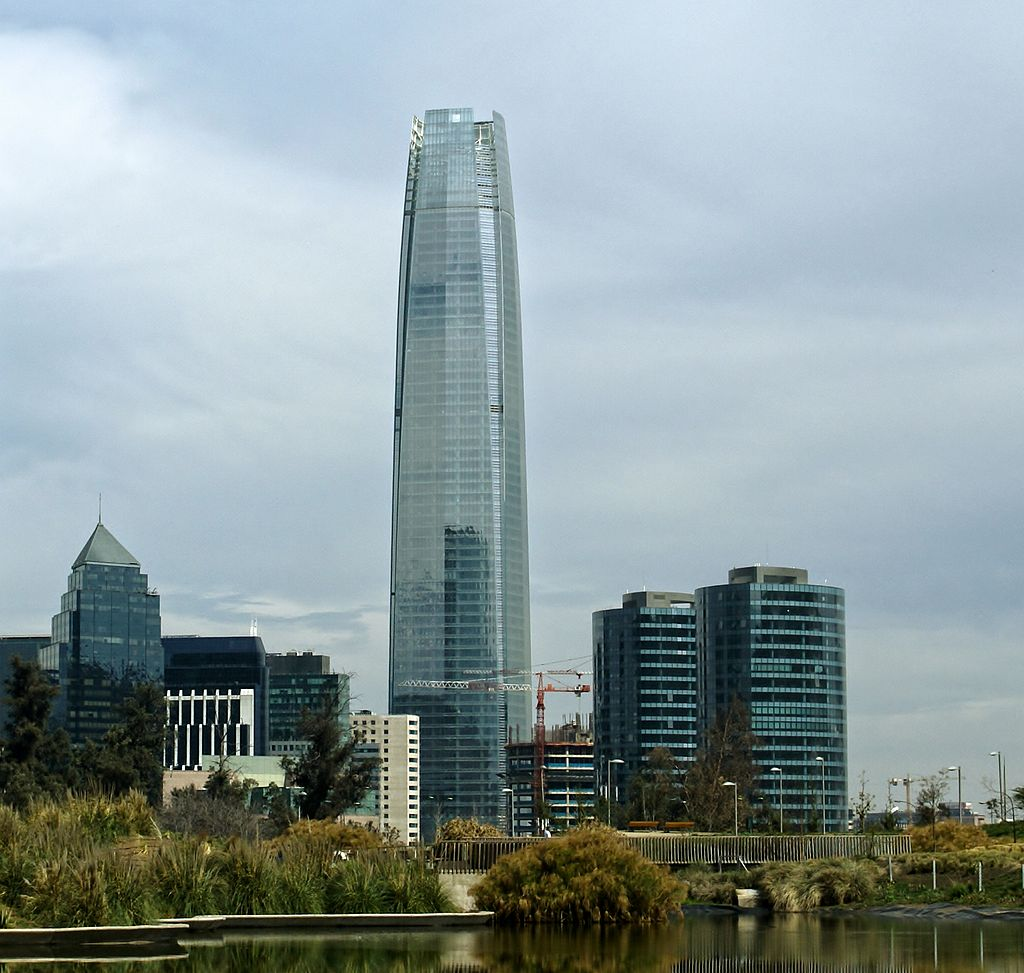 Photo:  Sanhattan, the financial district in Santiago de Chile
