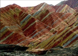 Photo:  Zhangye Danxia Landform, Gansu Province, China