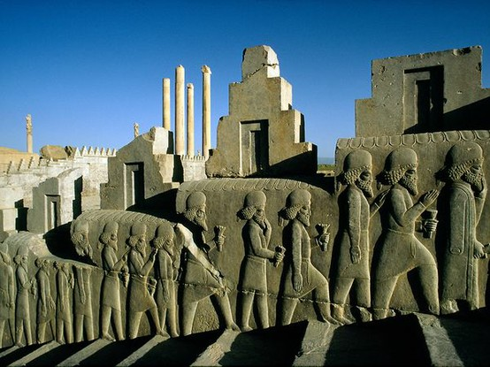 Photo:  The ancient city of Persepolis in modern