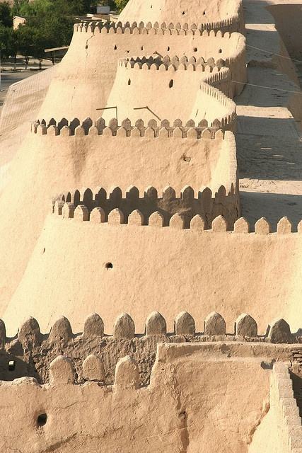 Photo:  Khiva battlements, Uzbekistan