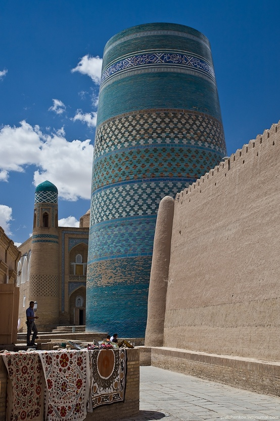 Photo:  Khiva is an ancient city of approximately 50,000 people located in Xorazm Province, Uzbekistan