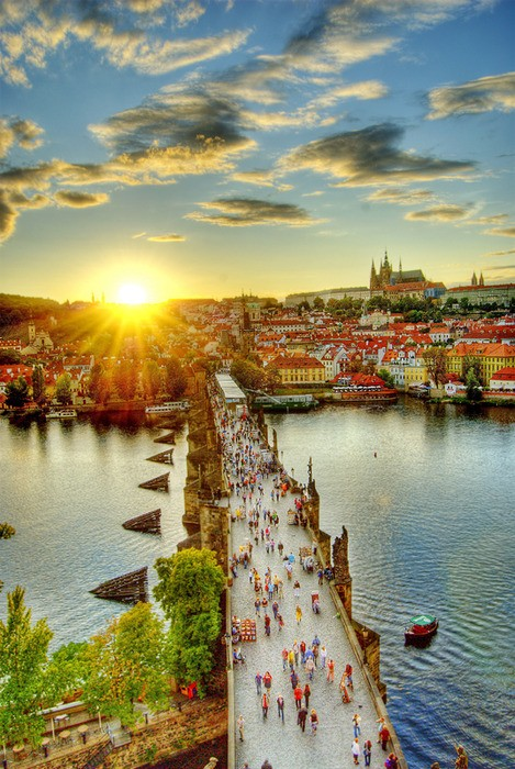 Photo:  Walking Bridge, Prague, Czech Republic