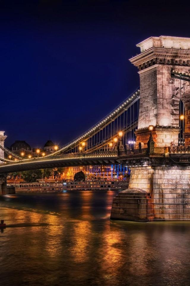 Photo:  Chain Bridge, Budapest, Hungary