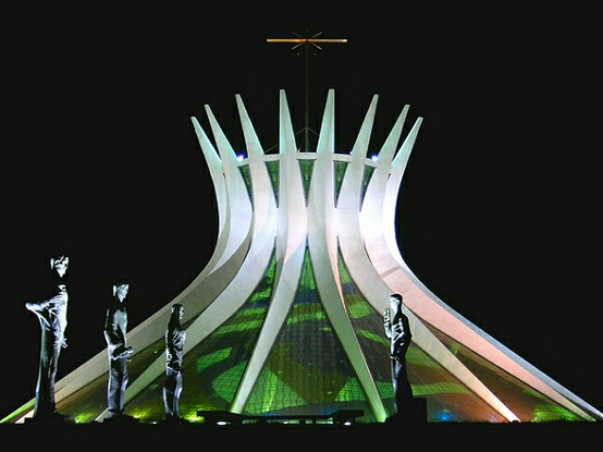 Photo:  Cathedral of Brasilia, Brasil