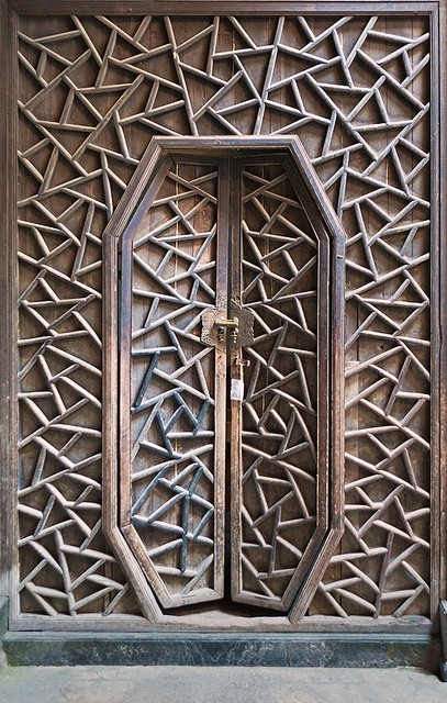 Photo:  Antique Handcrafted Door, The village of Xidi, Anhui, China