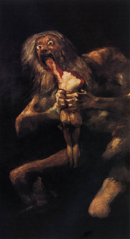 Photo:  Francisco Goya,Saturn Devouring His Son, 1819