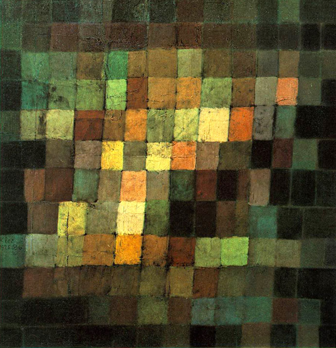 Photo:  Paul Klee, Ancient Sound, Abstract on Black, 1925
