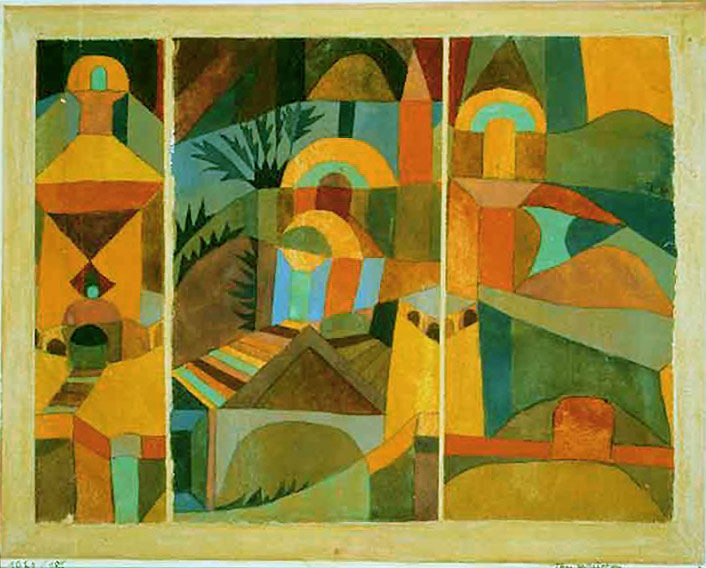 Photo:  Paul Klee, Temple Gardens, 1920