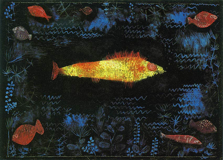 Photo:  Paul Klee, The Golden Fish, 1925