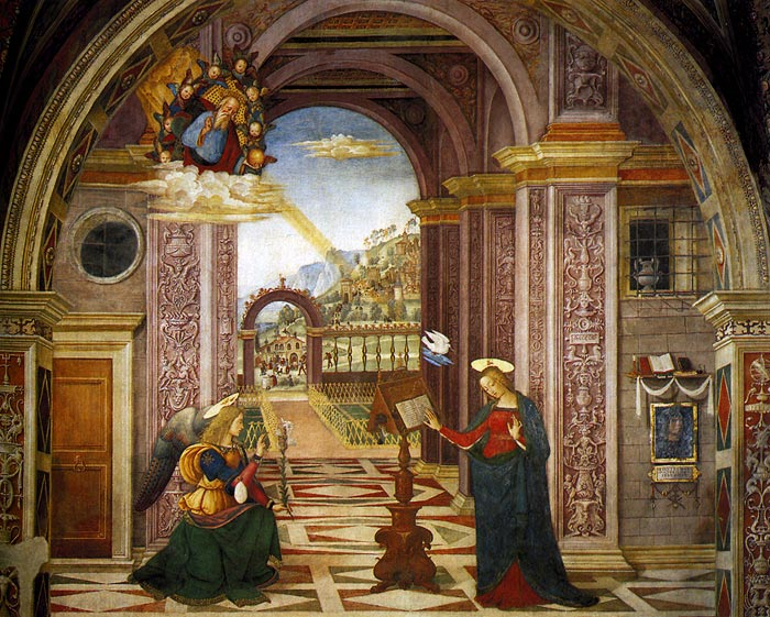 Photo:  Annunciation, 1501 (Spello, Perugia, Italy)