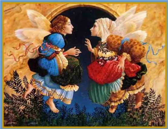 Photo:  Angels discussing Botticelli