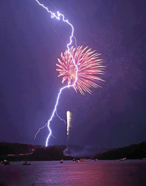 Photo:  firework  and lighting