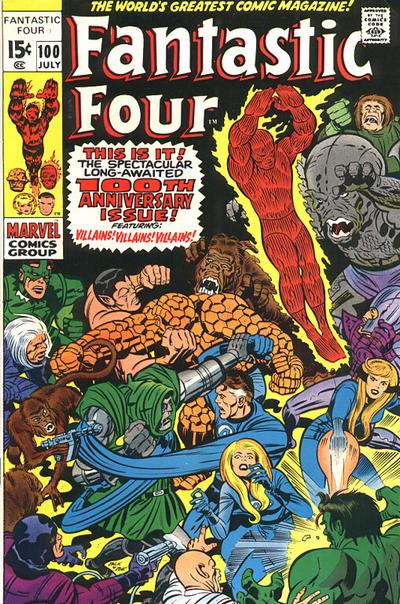 Photo:  Fantastic Four 100,July 1970