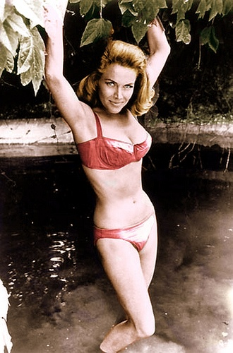 Photo:  Bond Girl Honor Blackman aka Pussy Galore