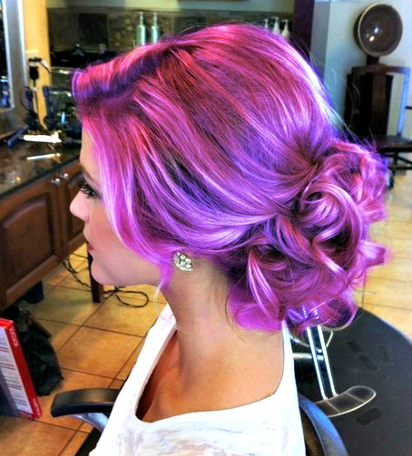 Photo:  Purple hair 01