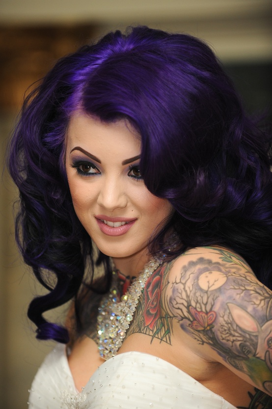 Photo:  Purple hair 02