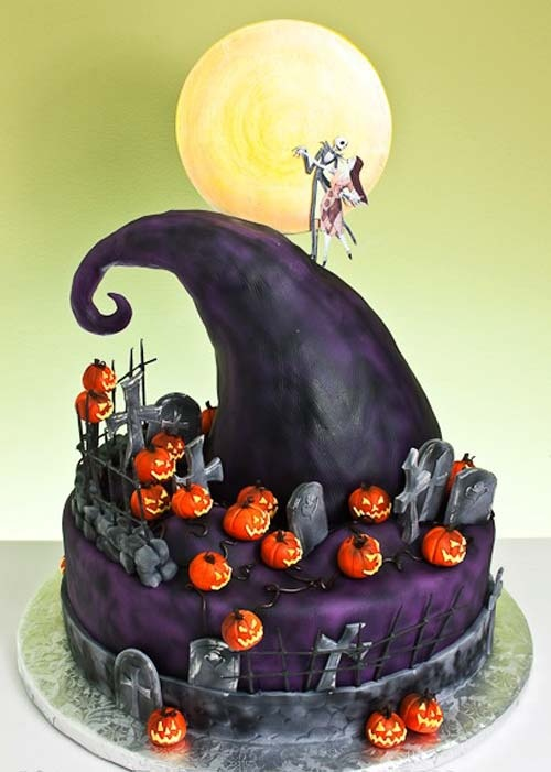 Photo:  Nightmare Before Christmas cake
