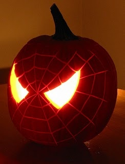 Photo:  Spiderman pumpkin