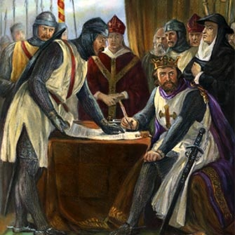 Photo:  1215 June 15 , England's King John puts his royal seal on the Magna Carta, or 'Great Charter'