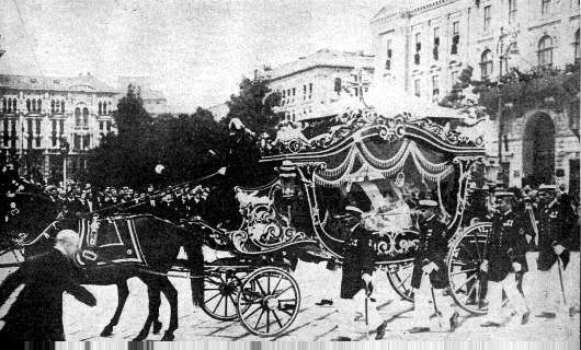 Photo:  1914, Funeral procession of Grand Duke Ferdinand in  Vienna