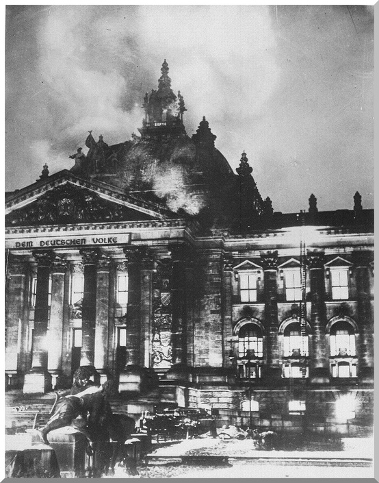 Photo:  1933, Reichstag Fire