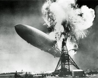 Photo:  1937, Hindenburg disaster