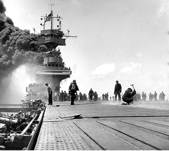 Photo:  1942, Battle of Midway (June 4, 1942 – June 7, 1942)