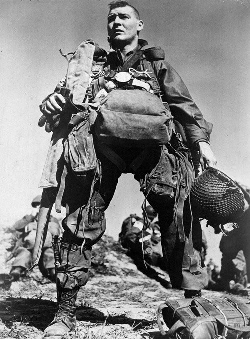 Photo:  American paratrooper, 1945