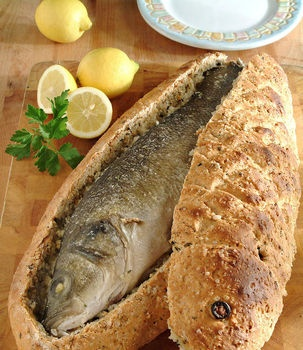 Photo:  Branzino in crosta
