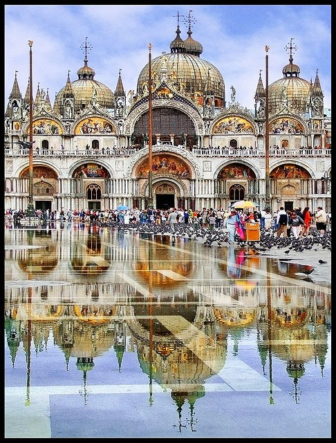 Photo:  Basilica in St Marks Square in Venice, Italy