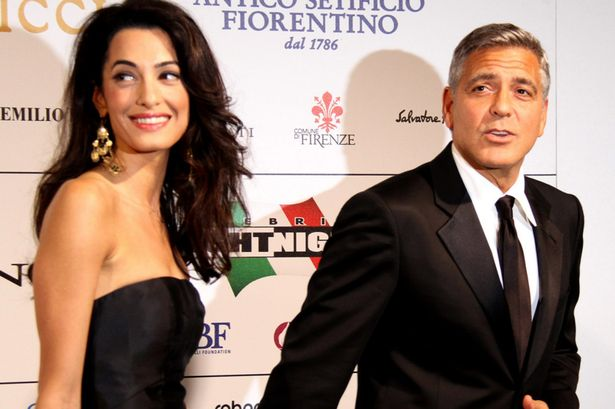 Photo:  Amal Alamuddin and George Clooney 09