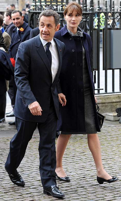 Photo:  Carla Bruni and Nicolas Sarkozy 02