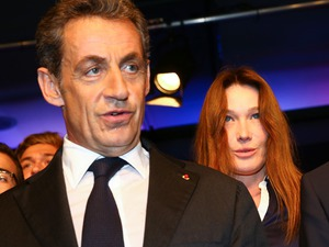 Photo:  Carla Bruni and Nicolas Sarkozy 06