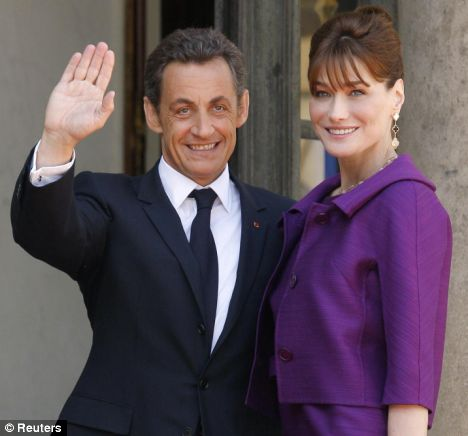 Photo:  Carla Bruni and Nicolas Sarkozy 07