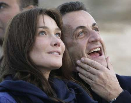 Photo:  Carla Bruni and Nicolas Sarkozy 08