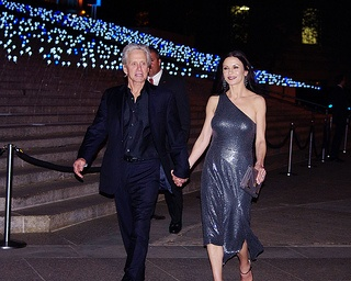 Photo:  Catherine Zeta Jones and Michael Douglas 2012